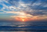 Atlantic ocean sunset, Lacanau France