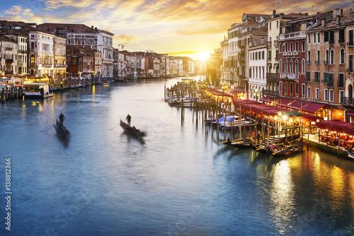 Plakat Grand Canal at night, Venice