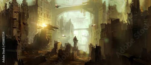Science fiction scene.