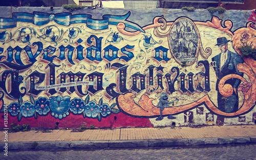 Foto op Canvas Buenos Aires SAN TELMO, BUENOS AIRES, ARGENTINA - NOV 24, 2014: Grafitti on the wall, San Telmo, Buenos Aires Argentina
