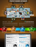 Infograph Brochure template with hand drawn sketches a