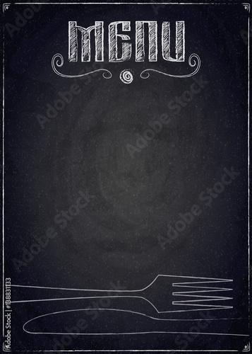 menu-restauracja-na-czarnym-chalkboard-tle