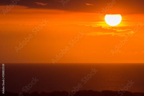 Papiers peints Orange eclat Sunset Over Haiti