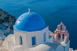 Church in Oia town, Santorini island, Greece.