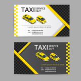 Fototapety Taxi card for taxi-drivers. Taxi service. Vector business card template. Company, brand, branding, identity, logotype. Business card template with texture.