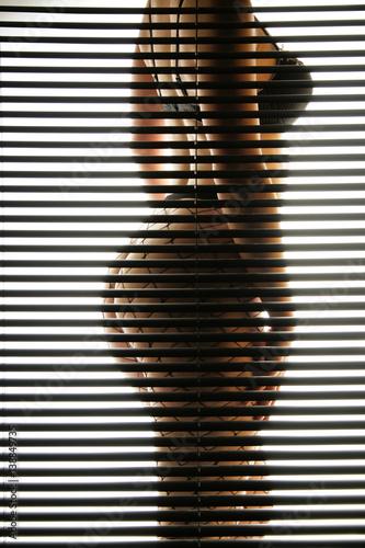 Frau in Unterwäsche hinter Jalousie © Stefan_Weis