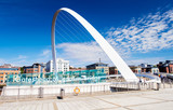 The Millennium Bridge at Gateshead, North East England.