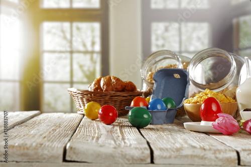 Fototapeta easter breakfast