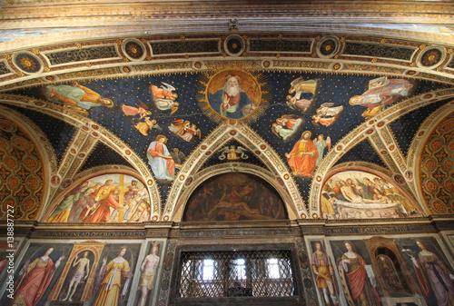 volta affrescata; sala delle monache, chiesa di San Maurizio, Milano Poster