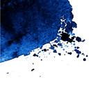 Blue colorful watercolor hand drawn stroke - 138889945