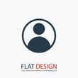 user icon, vector illustration. Flat design style