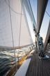 Luxury Yacht Sailing In Sea