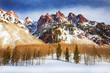 Mountain, Snow and clearing sky, Aspen, Colorado
