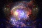 Starry deep outer space - nebual and galaxy