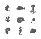 Reef. Icon set