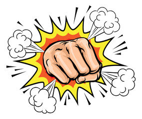 Exploding Cartoon Fist