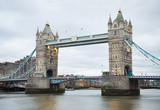 Afternoon view of Tower Bridge in London city