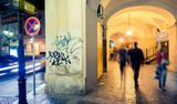 Prague Alley at Night