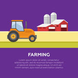 Organic products. Agriculture and Farming. Agribusiness. Rural landscape vector
