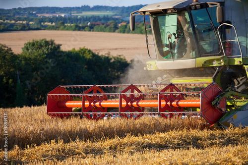 Poster Récolte du blé en France