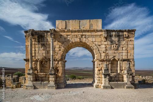 Fotobehang Marokko Ancient ruins in Morocco