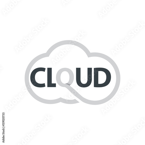 Initial Letter Cloud Computing Logo