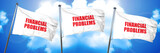 financial problems, 3D rendering, triple flags - 139036501