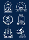 Law firm, lawyer office, legal center symbol set - 139036713