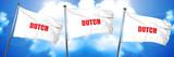 dutch, 3D rendering, triple flags
