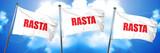 Rasta, 3D rendering, triple flags