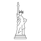Statue of liberty icon , outline style - 139067547