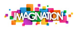 IMAGINATION Colourful Vector Letters Banner - 139068394