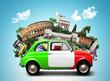 Quadro Italy, attractions Italy and retro italian car