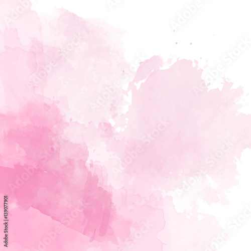 Różowy akwarela tło wektor