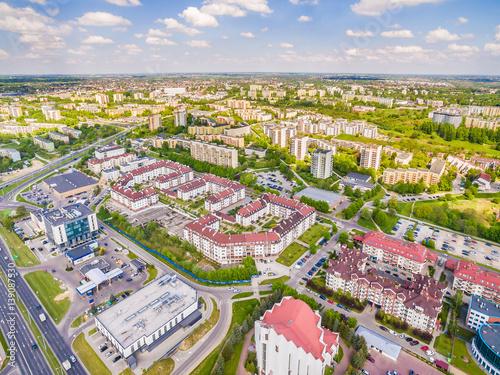 Lublin z powietrza. Dzielnica Czuby - krajobraz z lotu ptaka.