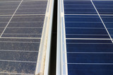 Dirty versus Clean Photovoltaic Panels - 139122548