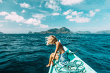 Woman travelling on the boat in Asia - 139126373