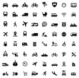 Fototapety Icons Traffic and Mobility