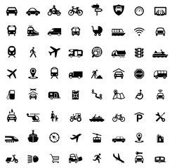 Icons Traffic and Mobility