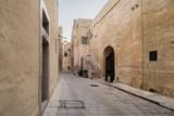 Old, car free street in Rabat, Malta, south Europe.