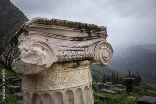 column at Delphi, Greece