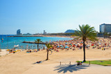 Fototapety View of Barcelona beach
