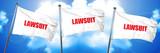lawsuit, 3D rendering, triple flags - 139161142