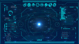 Radar screen. Vector illustration for your design. Technology background. Futuristic user interface. HUD. - 139184396
