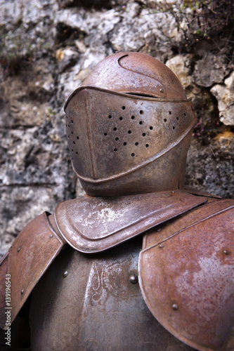 Poster Close-up of medieval armor