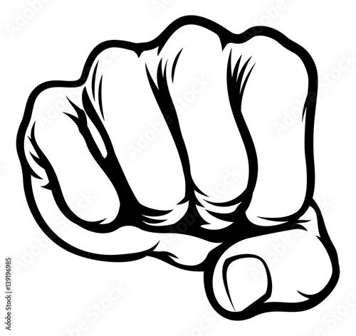 Fist Cartoon Comic Book Style