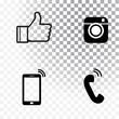 Black icon set Vector illustration
