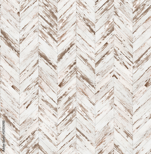 Chevron old painted parquet seamless floor texture - 139216981