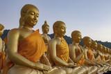 gold buddha statue in thailand buddhist temple