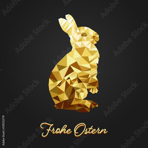 Osterhase Dreiecke - Gold
